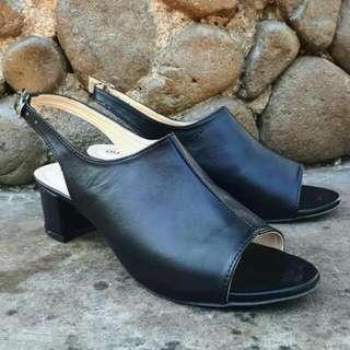 Wedges / Black Heels / Black Wedges / Wedges Murah / Sepatu Wanita