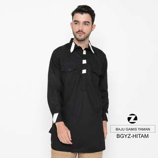 Baju Gamis Yaman - Hitam