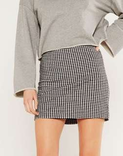 GLASSONS - Mini Gingham Skirt