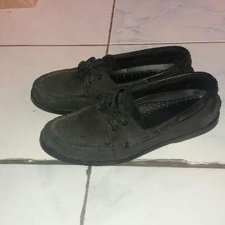 Pure Black Sperry Top Sider