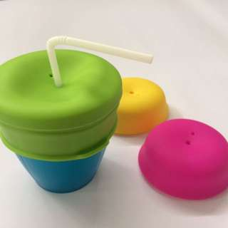 Silicone Straw Lids (Pack of 3's)