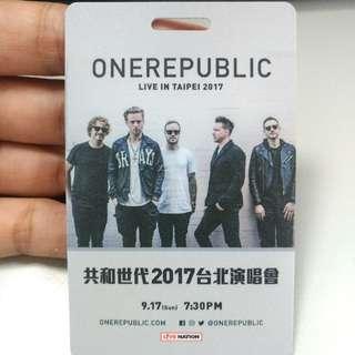 onerepublic 9月17 臺北演唱會