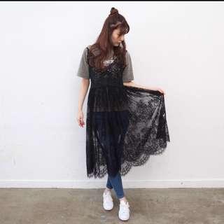 日本連線🎀黑色性感蕾絲細肩帶洋裝🎀#含運最划算