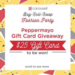 FLASH GIVEAWAY Peppermayo Gift Card