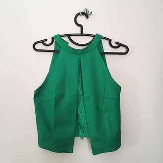 Distance Crop Top In Green