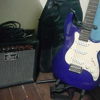 Electric Guitar set w/amp & accessories
