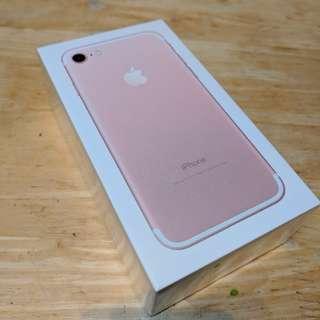 全新未開封Never Open iPhone7 128GB Rose Gold