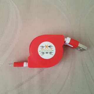 Retractable USB CABLE for Android Devices
