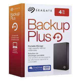 (4TB) Seagate Backup Plus Portable External Hard Drive
