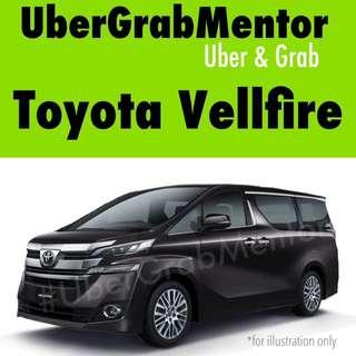 Uber Grab Toyota Vellfire