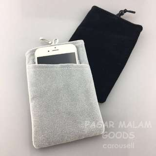 Instock Velvet Phone Pouch Soft Sleeve Cover Case Holder Pouch 4.3 inch