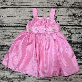 全新薇妮皇家 粉紅條紋洋裝 禮服