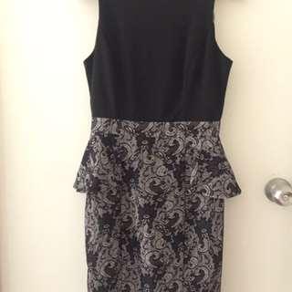FORAST peplum dress