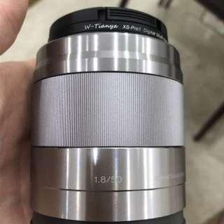 Sony SEL50F18 E Mount APS-C 50 mm F1.8 Lens - Silver.