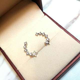 日本星星閃亮防敏感水晶耳環 Japanese Stars Shiny Anti-Sensitive Crystal Earrings
