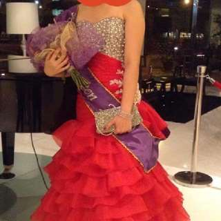 Red mermaid gown for Rent