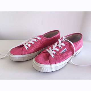 Superga Pink Glitter Shoes