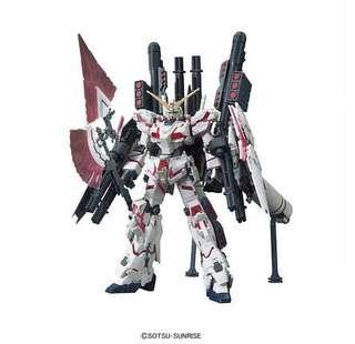 Gundam HGUC Model Kit: Full Armor Unicorn Gundam (Destroy Mode Red Color Ver.)