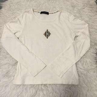 Burberry Milky Long Sleeve T shirt