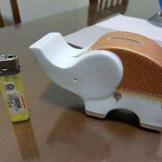 Coin Bank Ceramic Elephant Design