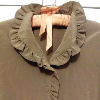 日本製荷葉領襯衫