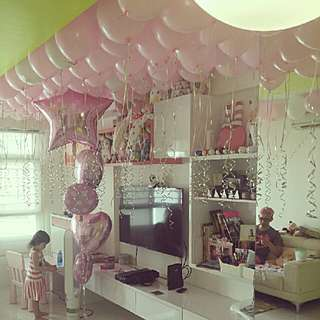 surprise party helium floating balloons