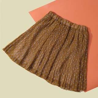 Mustard Frilled Skirt