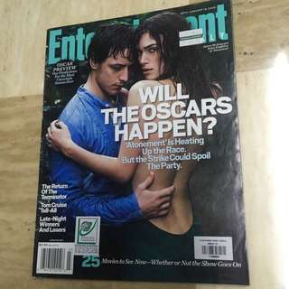 Entertainment Weekly Magazine James McAvoy Kiera Knightley