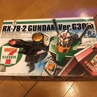 Bandai 全新未砌 7-11 日本限定特別版HG 1/144 RX-78-2 G30th 週年高達模型