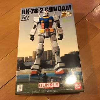 Bandai 全新未砌日本靜岡限定特別版HG 1/144 RX-78-2 30th 週年高達模型