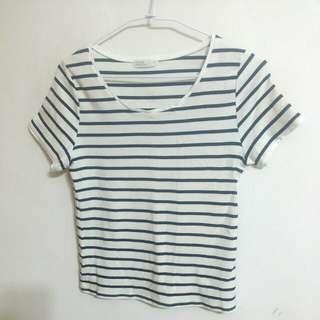 🚚 💜 Pazzo 黑白條紋上衣 T Shirt