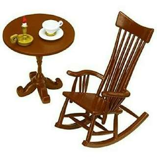 "Pre-order: Pose skeleton ""Rocking Chair Set""  includes:   - Rocking Chair - Tea cup - Saucer - Candle - Table"