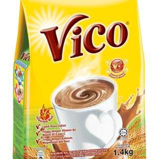 Vico 1kg 1.4kg Chocolate Malt Drink Cocoa beverage minuman koko