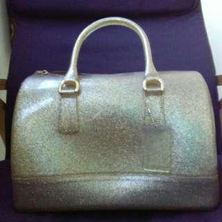 Furla Bag Gold Glitter