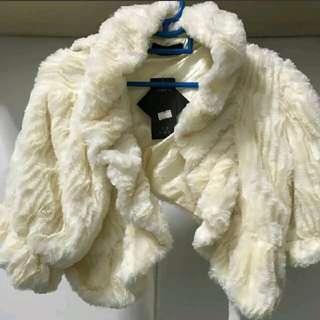 BN Bolero Cropped Faux Fur Jacket