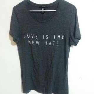 ❤ Forever 21 深灰色字母上衣 T Shirt