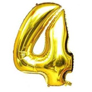 42 inch gold foil balloons