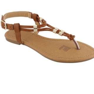 Gold trim sandal/fresh from Australia