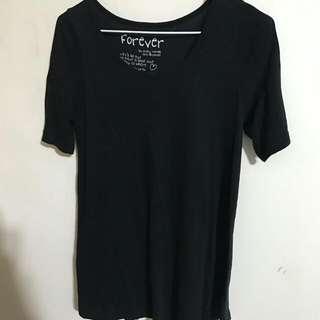 🚚 💙 黑色傘狀長版 T Shirt