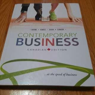 Contemporary Business Canadian Edition Boone Kurtz Khan Canzer