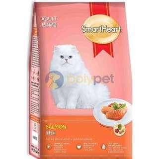 3kg SmartHeart  Smart Heart Cat Food Adult Tuna Shrimp Seafood Mackerel Salmon Chicken Kucing