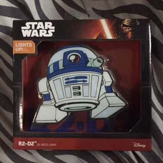 STAR WARS R2D2 3d deco light
