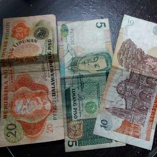 Different Antique Peso Bill