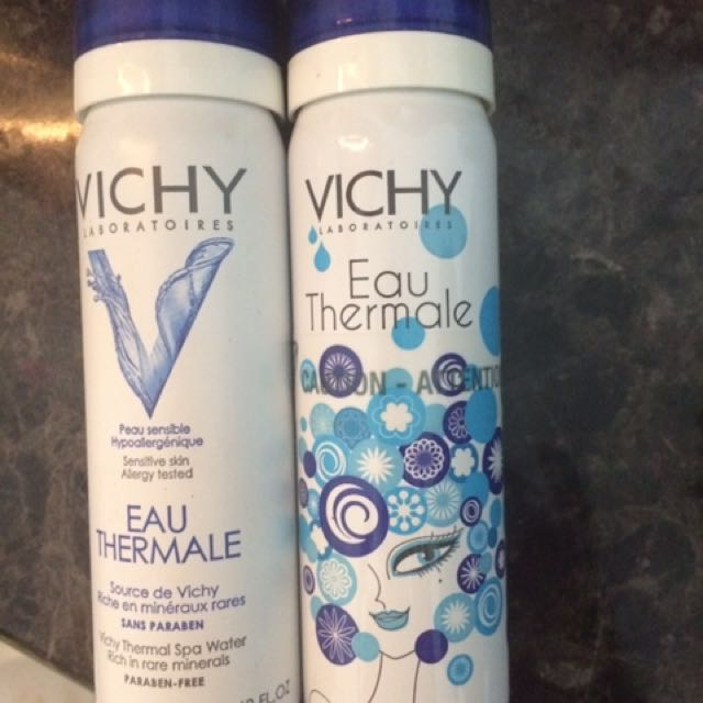 2 Vichy Spa Mineral Bottles