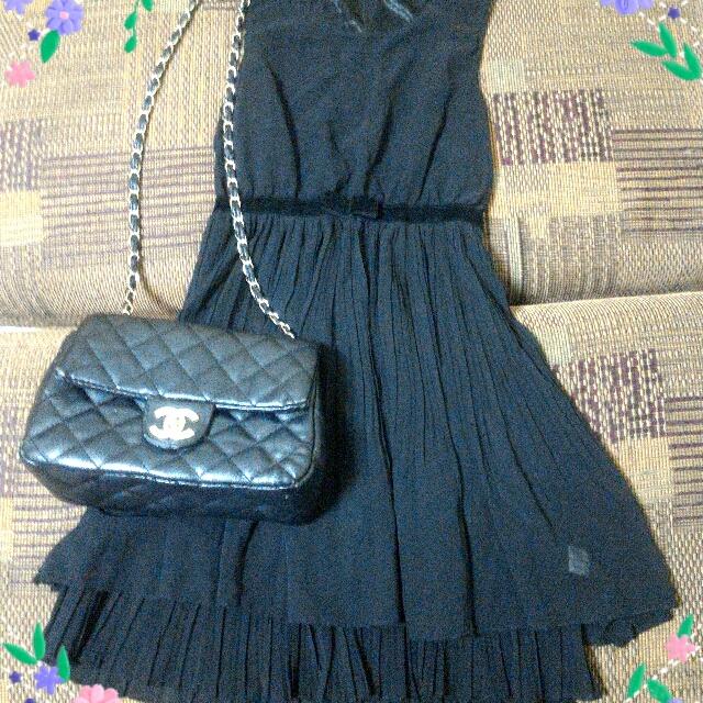 黑雪紡洋裝