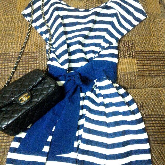 藍格紋洋裝