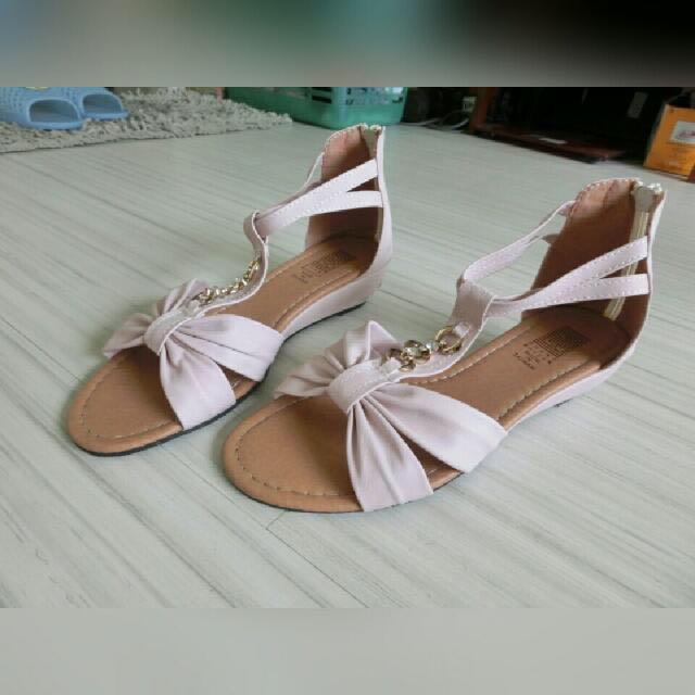 波西米亞粉色氣質涼鞋