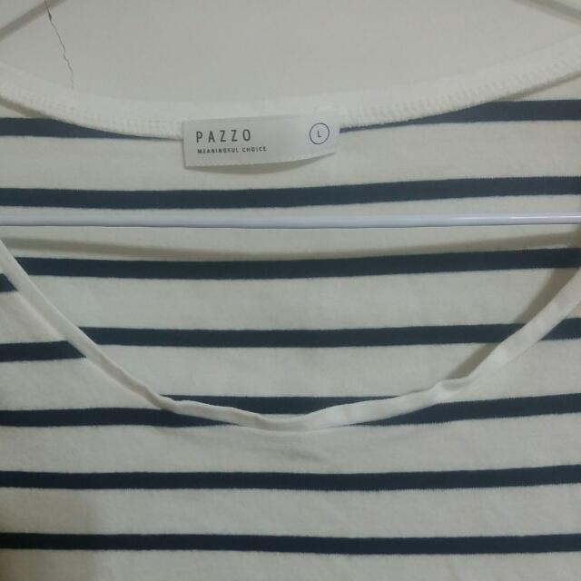 💜 Pazzo 黑白條紋上衣 T Shirt