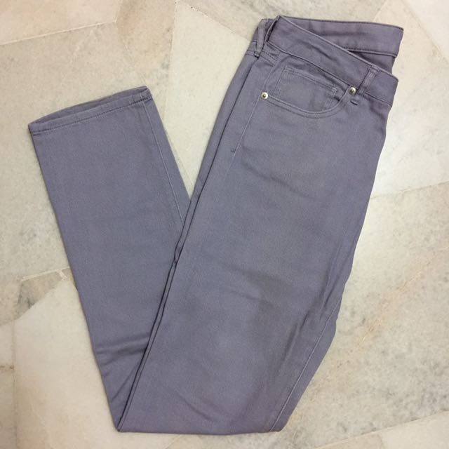 💟 Uniqlo Pastel Purple Jeans
