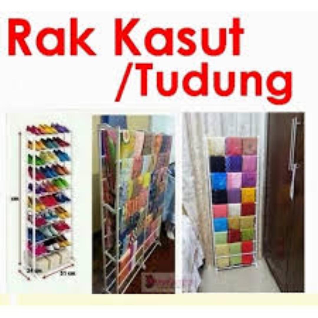 Amazing Shoe Rack Rak Kasut atau tudung 10 tingkat DIY pasang sendiri